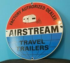 VINTAGE AIRSTREAM PORCELAIN GAS AUTO TRAVEL TRAILERS SERVICE SALES SIGN