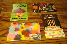#4 (four) HOBBY LOBBY GIFT CARDs NO VALUE-Never Used or Activated Collectable  b