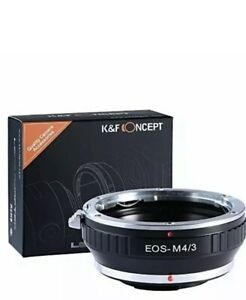 KF Concept® lens mount adapter EOS-M4/3 EOS mount lenses
