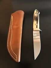 "R.W. Loveless Knife ""Maker"" Straight Hunter-Stag-Sheath-Mint!"