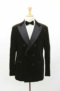 NWT$4495 Brunello Cucinelli Velvet + Silk Satin 2Tone DB 2Pc Tuxedo 54/44US A211