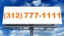 312 Area Code Chicago Illinois Loop Vanity Phone Number Double Repeater! Rare!