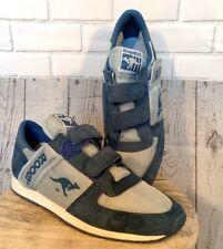 Vintage 80's Blue Nylon Suede Kangaroo Roos Tennis Shoes Men's Size 7.5 Zipper