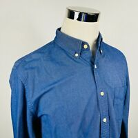 J Crew Mens Large Oxford Shirt Regular Fit Blue 100% Cotton Button Down