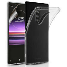 SONY EXPERIA 1 SLIM SILICONE GEL PHONE CASE COVER & SCREEN PROTECTOR