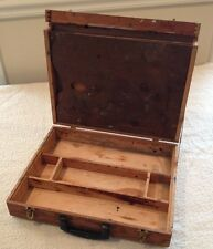 Vintage Solid Wood Artist Oil Painter Painting Wood Suitcase with 2 Palettes