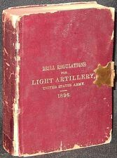 Drill Regulations for Light Artillery, United States Army 1896 Leather VG+ RARE