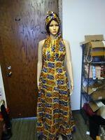 African Wax Print dress Size M,L