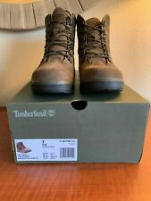 "Timberland Junior/Big Kids 6"" inch Field Boots Nu-Buck Dark Brown Size 7 NWB"