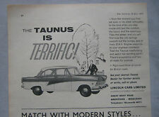 1960 Lincoln Taunus Original advert