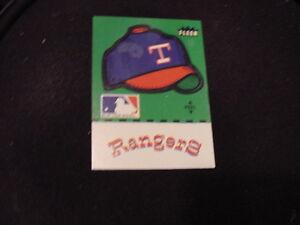 VINTAGE Early 1980's Texas Rangers Fleer Team Cap Logo Sticker Card, NICE!