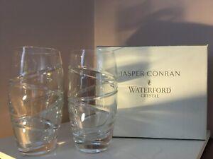 Waterford Crystal Jasper Conran Tumbler Glasses Pair - unused in original box