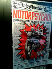 Motorcycle Motorpsycho Movie Poster in 3-D Vintage large 11x17
