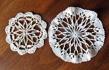 2 NAPPERON ANCIEN coton au crochet 15..12 cm @@OLD mat