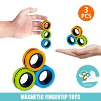 Magnetic Bracelet Ring Unzip Toy Magic Ring Props Tools Decompression toys ^^#l