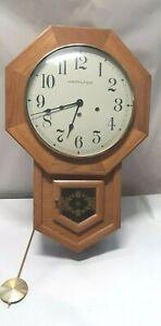Vintage Hamilton 8 day pendant wall clock wood case