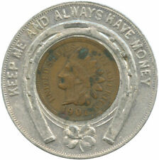 First National Bank Fort Scott, KAS Good Luck Token Encased 1901 Indian Cent