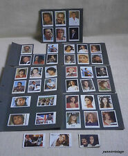 ACTORS and SINGERS TRADING CARDS LOT X 42 MELO GREEK GREECE 80's VINTAGE RARE