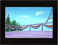 Back to the Future Hand Painted Production Animation Background Universal fr
