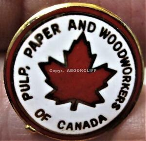 PULP PAPER & WOODWORKERS UNION CANADA Lapel Pin