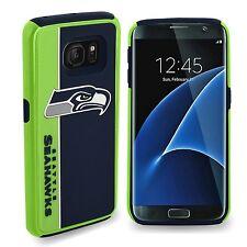 Samsung Galaxy S7 EDGE Seattle Seahawks Bold Dual Hybrid 2 Piece Case NFL