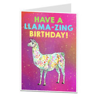 Llama Birthday Card For Women & Girls Quirky Design Perfect For Daughter Sister