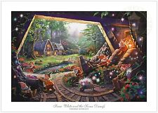 Thomas Kinkade Snow White and the Seven Dwarfs Limited Edition G/P Paper Disney