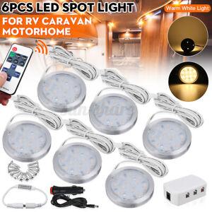6PCS 12V LED Spot Amber Light Interior Lamp Downlight For VW T4 T5 RV Caravan