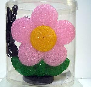 New Pink Daisy Flower Eva Desk Shelf Table Glow Lamp Night Light Daisies Flowers