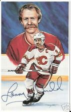 Lanny McDonald Autographed Hockey Legends Card HOFer