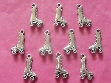 Tibetan Silver Roller Skate Charm 10 per confezione