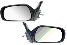 Corolla Prizm Left & Right Black Manual Remote Side View Mirror Pair L+R