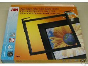 "3M  EX10L ANTIGLARE FLAT FRAME FILTER BLACK 14""-17 CRT"" or 15"" LCD"
