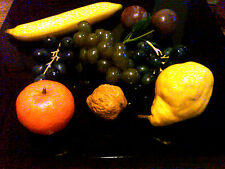 9 Vintage Assorted Decorative Fruits, Plastic, 1950's, Very Good ,Great Replicas