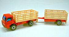 Matchbox Superfast TP19A Cattle Truck & Trailer rot