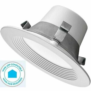 """Commercial Electric T42 4"""" Matte White Recessed LED Smart Downlight"""