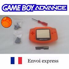 Coque GAME BOY ADVANCE Clear orange NEUF NEW + tournevis - étui shell case GBA