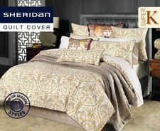 "New SHERIDAN  ""Lyall""  Standard Set Pillowcases (2) - Sable"