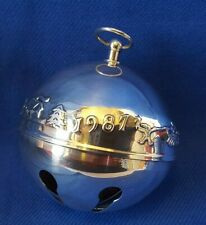 1987 Wallace Silversmiths Silver Plate Sleigh Bell Christmas Ornament Vintage
