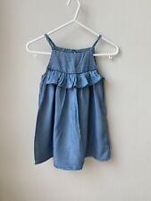 Next Girls Denims Strappy Dress, 3 Years