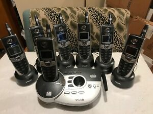 VTech 5866 Landline Phone Answering Machine w/ 6 COLOR+1 B/W-total 7 Handsets