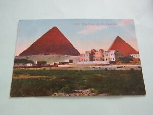 VINTAGE POSTCARD HOTEL MENA HOUSE AND THE PYRAMIDS CAIRO EGYPT