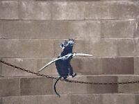 ART PRINT POSTER PHOTO GRAFFITI STREET BANKSY FUNAMBULIST TIGHTROPE RAT NOFL0371