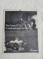 VINTAGE SCARCE CANON FT QL CAMERA PAPER ADV. SIGN BOARD