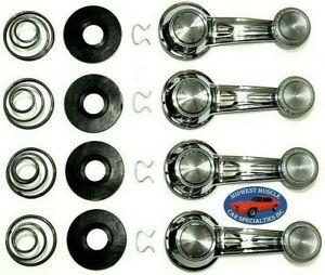 67-81 GM Door Panel Window Glass Regulator Crank Handle Washers Springs Clear QX