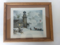 "Charles Wysocki Vintage Print ""A Present For The Sentinel"" Framed"