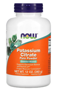 Now Foods Potassium Citrate Pure Powder 12 oz 340g Balance Electrolyte Normal PH