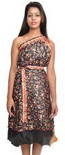 "6 Pcs Wrap Skirt Reversible Two Layer Silk Sari Wrap Skirts - 36"" Skirts"
