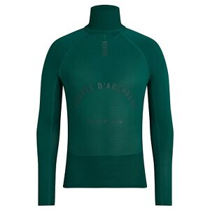 NEW Rapha Men's Cycling Base Layer XXL Pro Team Thermal Green RCC Long Sleeve
