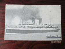 SS ' VIPER ' WWI TROOP CARRIER VINTAGE SHIPPING POSTCARD